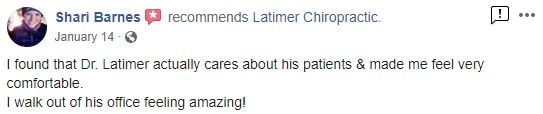 Latimer Chiropractic Patient Testimonial